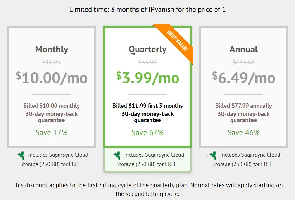 IPVANISH 3 Month DEAL